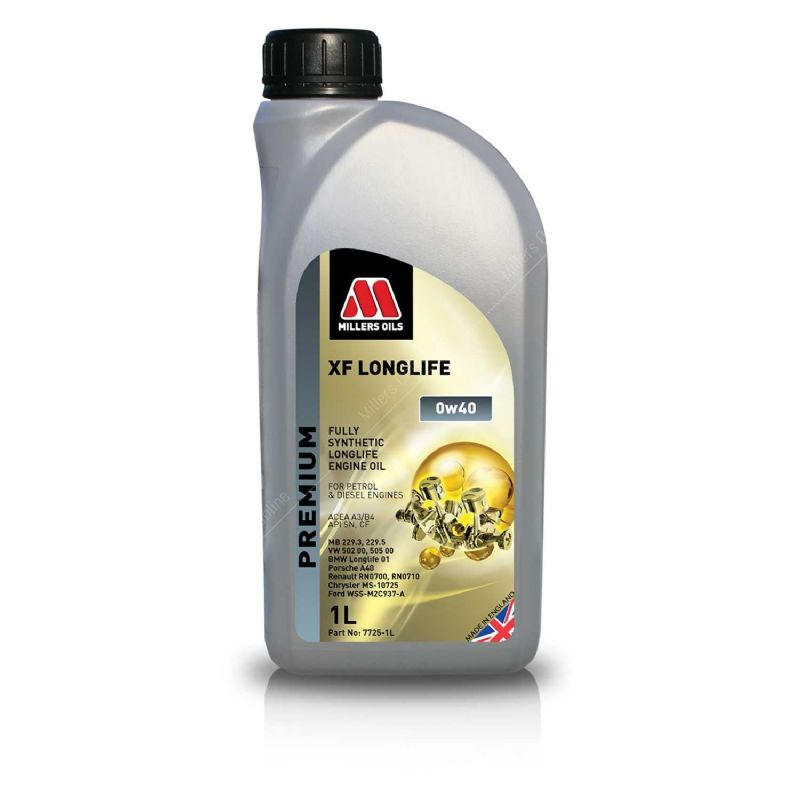 Ford Focus RS MK3 Millers Engine Oil XF Longlife 0w40 1L